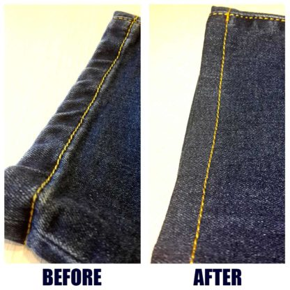repair of jeans before and after Kiev